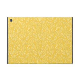 Fall Autumn Yellow Golden Leaf Leaves Pattern iPad Mini Covers