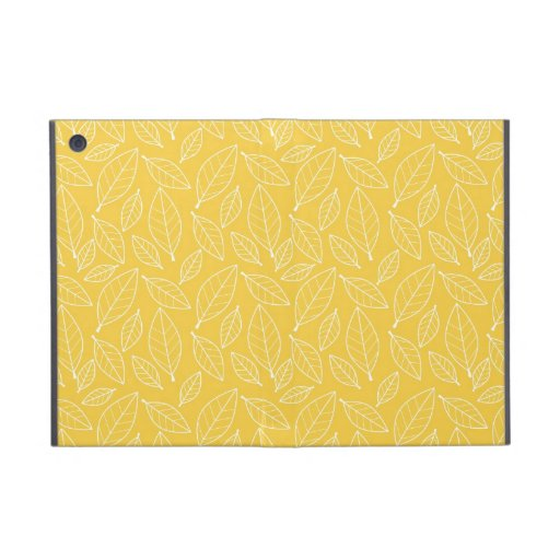 Fall Autumn Yellow Golden Leaf Leaves Pattern iPad Mini Covers