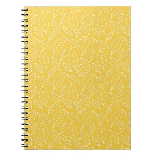 Fall Autumn Yellow Golden Leaf Leaves Pattern Journals