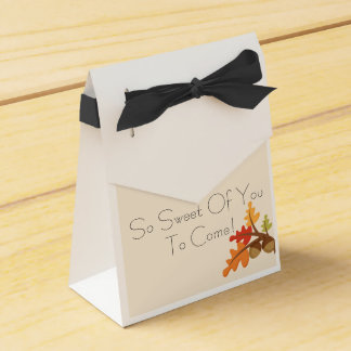 Fall Baby Favor Boxes! Favour Box