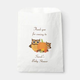 Fall Baby Shower Favour Bags Paper Bags