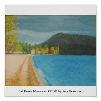 Fall Beach Afternoon - COTW Posters