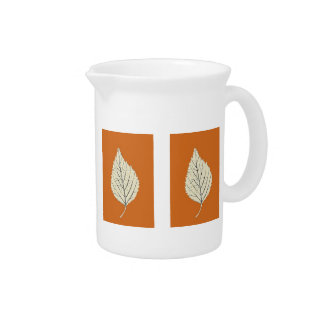 Fall Birch Leaves Pitcher