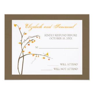 Fall Bittersweet Wedding RSVP Card Announcement