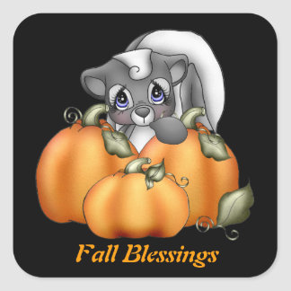 Fall Blessings Skunk sticker Square Sticker