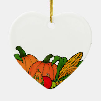 fall border ceramic ornament
