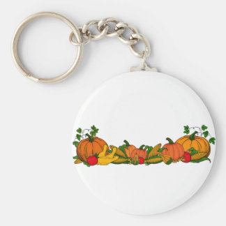 fall border key ring