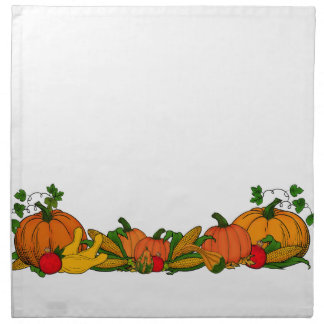 fall border napkin