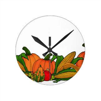 fall border round clock
