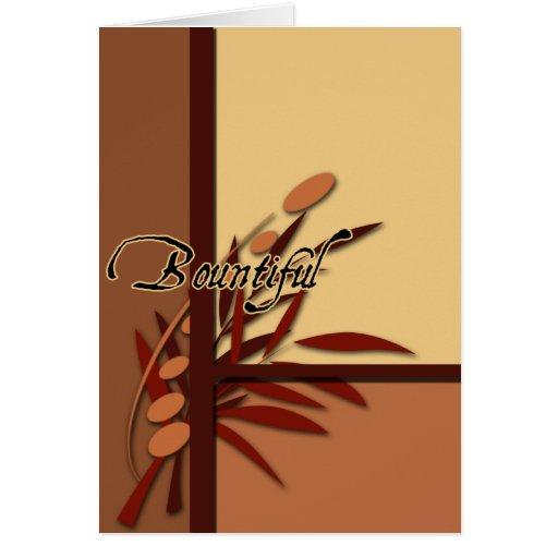 Fall Bountiful Thanksgiving cards