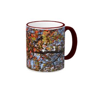 Fall Branches Ringer Coffee Mug