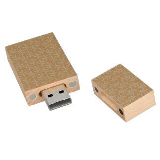 Fall Branches Pattern Wood USB 2.0 Flash Drive