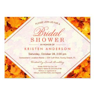 FALL BRIDAL SHOWER | AUTUMN MAPLE LEAVES 13 CM X 18 CM INVITATION CARD