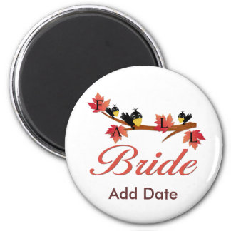 Fall Bride Favors and Apparel Magnet