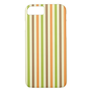 Fall Brown Orange green Stripes iPhone 7 Case