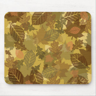 fall camo leaves pattern mouse pad
