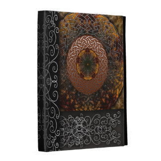 Fall Celtic Knot Circle iPad Cases
