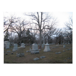 Fall Cemetery by Bob Markin Postcard