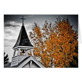 Fall Church Steeple Card