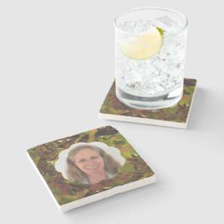 Fall Cloud Photo Frame Stone Coaster
