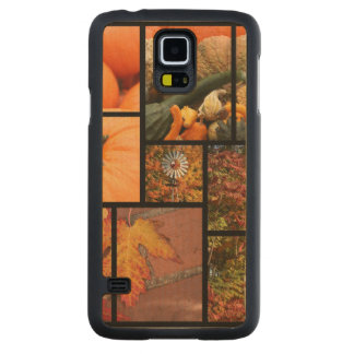 Fall Collage Carved Maple Galaxy S5 Case