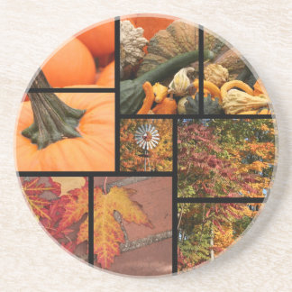 Fall Collage Drink Coasters