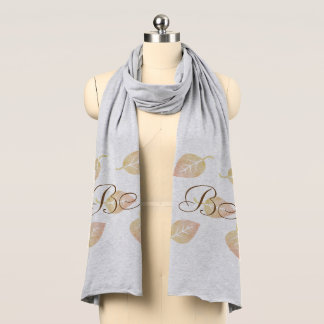 Fall Collection Autumn Leaves  Add Initials Scarf