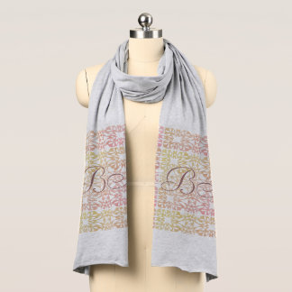 Fall Collection Autumn Pattern  Add Initials Scarf