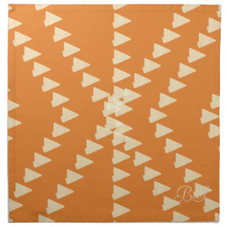 Fall Collection Bright Orange Pattern  Napkin