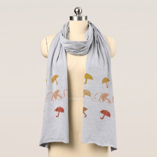 Fall Collection Bright Umbrellas Scarf