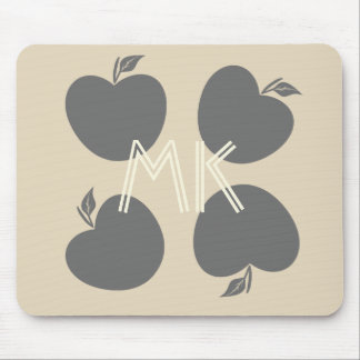 Fall Collection  Grey Beige Apples  Mousepad