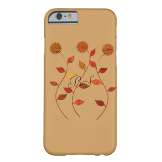 Fall Collection Orange Flowers  Add Initials Barely There iPhone 6 Case