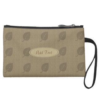Fall Collection Rustic Linen Look Leaf Bag