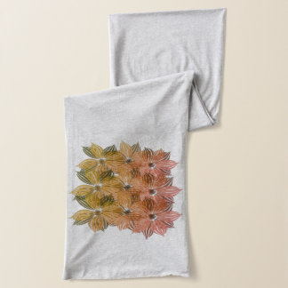 Fall Collection Watercolor  Floral Add Initials Scarf