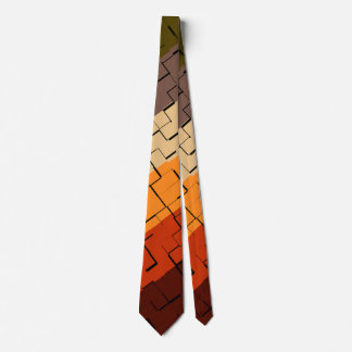 Fall Color Abstract Pattern Tie