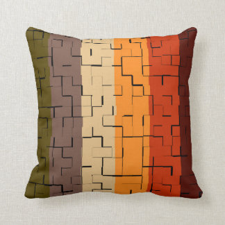 Fall Color Abstract Stripes Cushion