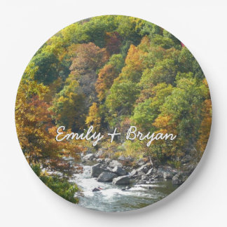 Fall Color at Ohiopyle State Park Paper Plate