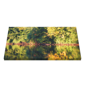 Fall color change on the St Joe River Canvas Print