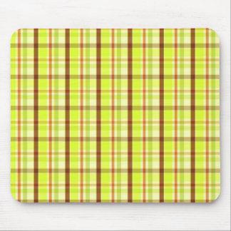 Fall color checks - Mousepad