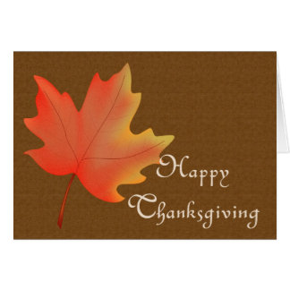 Fall Color Leaf : Happy Thanksgiving Greeting Card