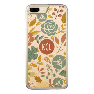 Fall Color Leafs And Flowers Carved iPhone 7 Plus Case