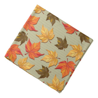 Fall Color Leafs Pattern Bandannas