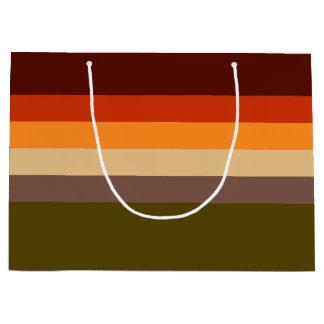 Fall Color Stripes Large Gift Bag