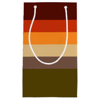 Fall Color Stripes Small Gift Bag