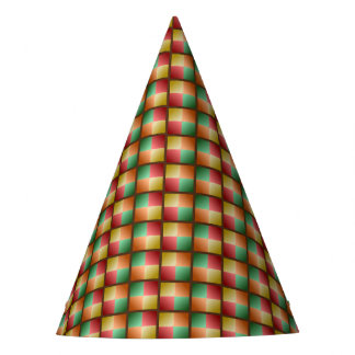 Fall Color Wave Design Party Hat