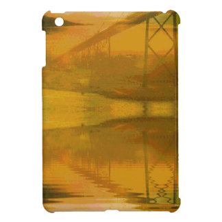 Fall Colored Landscape Overlay with Bridge Cover For The iPad Mini