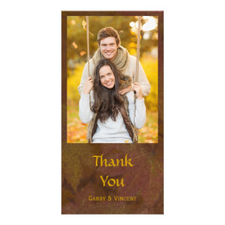 Fall Colored Maple Leaves Thank You Card
