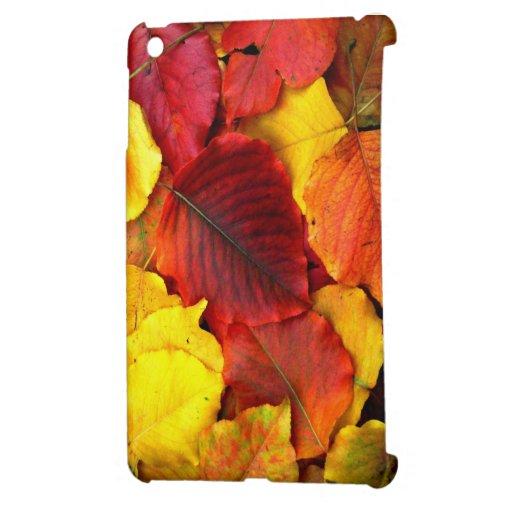 Fall Colored Pear Leaves iPad Mini Cases