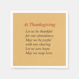 Fall Colors At Thanksgiving Poem Disposable Serviettes