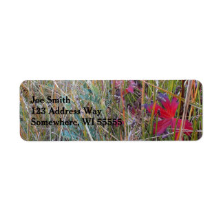 Fall Colors Close-up Return Address Label